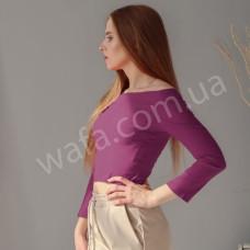 Топ Wafa приталеный лиловый