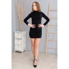 Платье Wafa приталеное чёрное