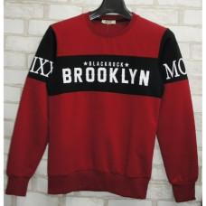 Толстовка батник Brooklyn красный