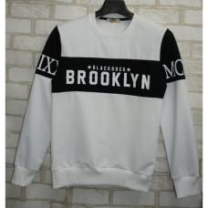 Толстовка батник Brooklyn белый
