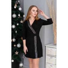 Платье Замш на дайвинге чёрный