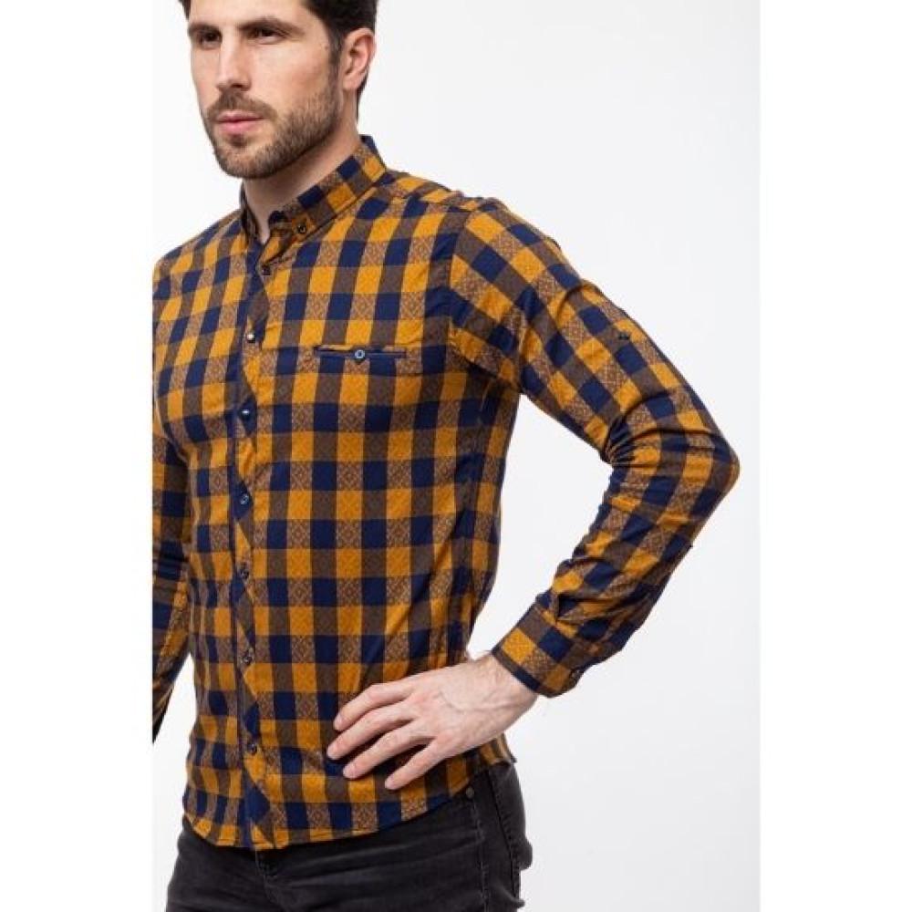 Рубашка Varetti жёлтая клетка