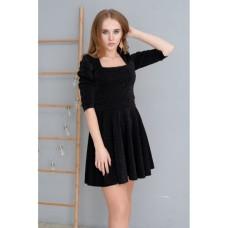 Платье Wafa люрексовое чёрное
