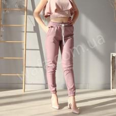 Джогеры Wafa эко кожа матовые розовые