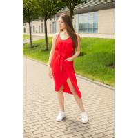 Платье капля миди Wafa красный