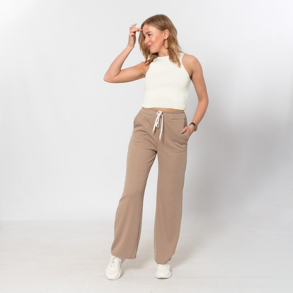 Женские брюки кюлоты мокко