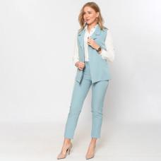 Брючный костюм- жилеткой Wafa голубой